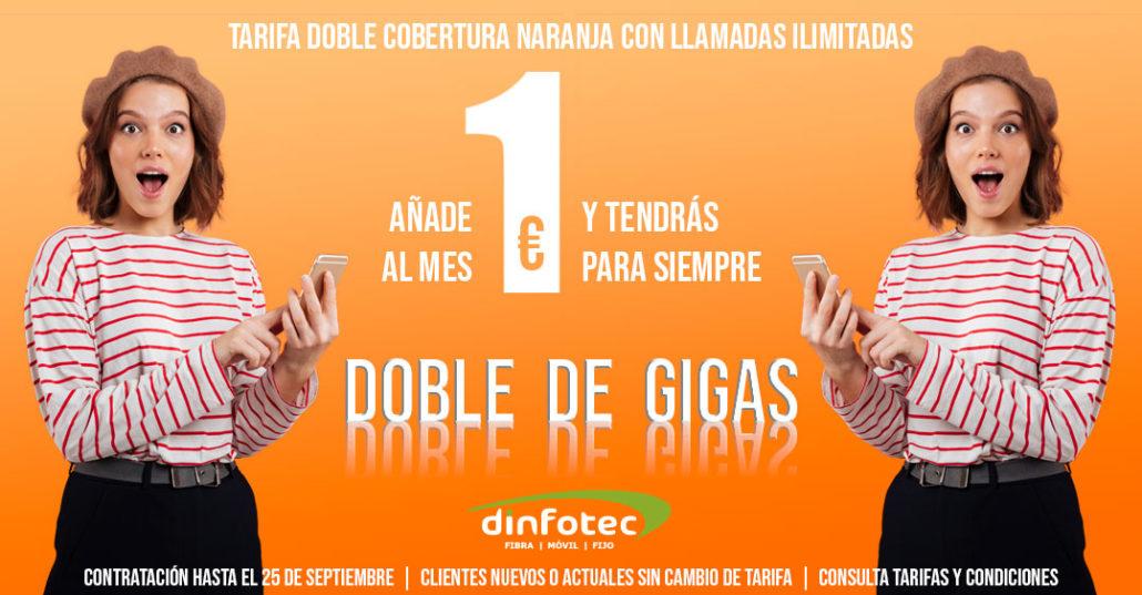 Dinfotec - Promo Doble de Gigas. Tarifa Móvil.